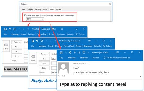 setting up a template in outlook how to change default font size in reading pane in outlook