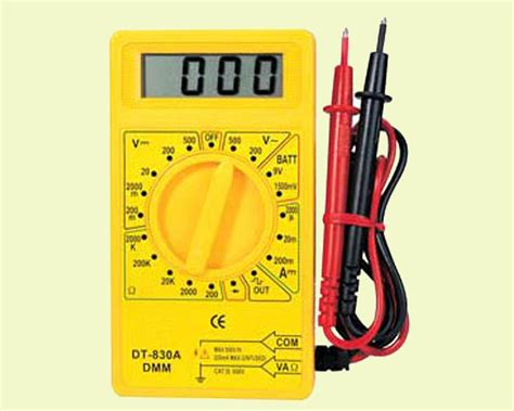 Square Meter by China Digital Multimeter Dt 830a China Electronic