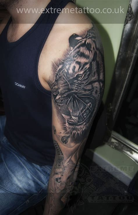 extreme tattoos tiger cover up piercing fort