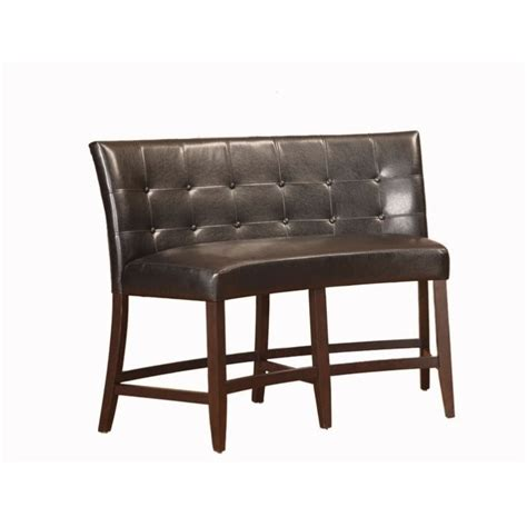 counter height banquette modus bossa counter height banquette in black leatherette