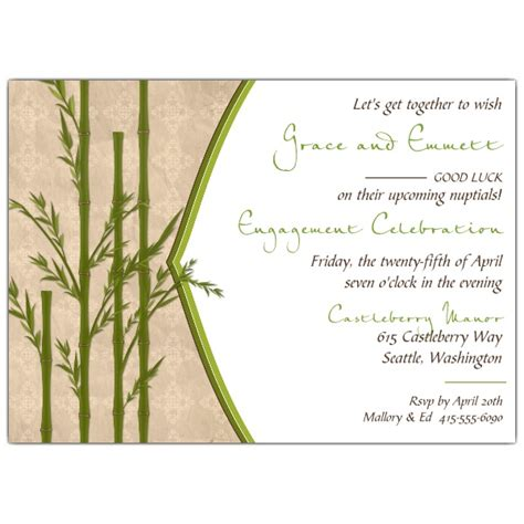Bamboo Paper Wedding Invitations by Bamboo Engagement Invitations Paperstyle