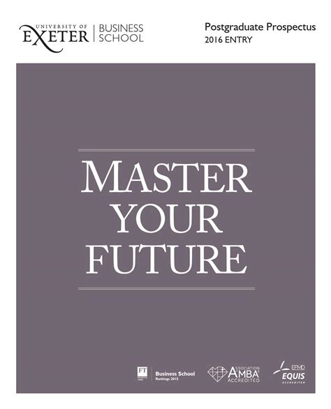 Exeter Mba Entry Requirements by Business School Postgraduate Prospectus 2016 By