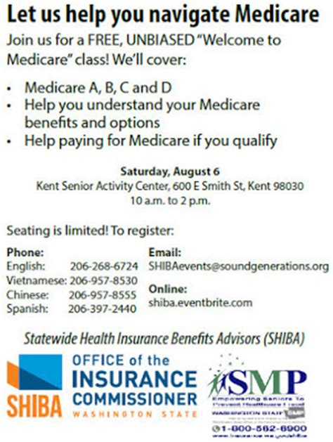 Office Of The Insurance Commissioner washington state insurance update learn more about medicare at free event aug 6 in kent