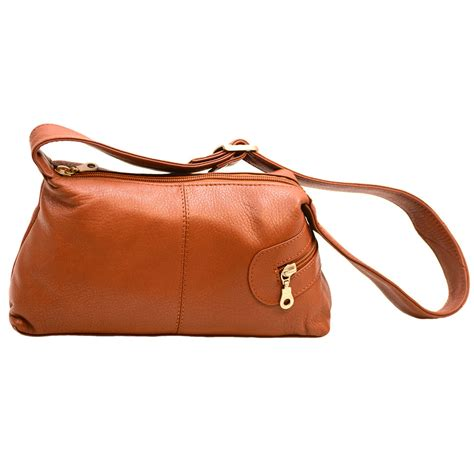 Leather Ebay by Womens Small Zippered Shoulder Bag Genuine Leather Ebay