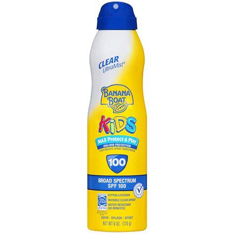 banana boat ultra defense max skin protect spf 110 banana boat kids max protect play continuous spray