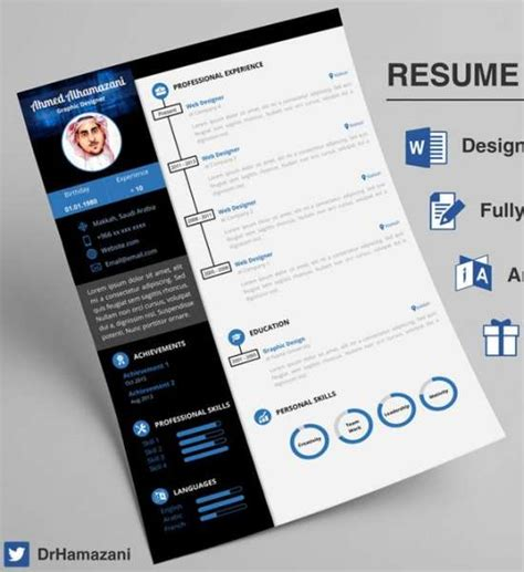 Unique Resume Templates by 12 Professional Resume Templates In Word Format Xdesigns
