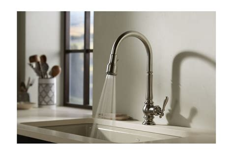 kholer kitchen faucets 2018 faucet k 99259 sn in vibrant polished nickel by kohler