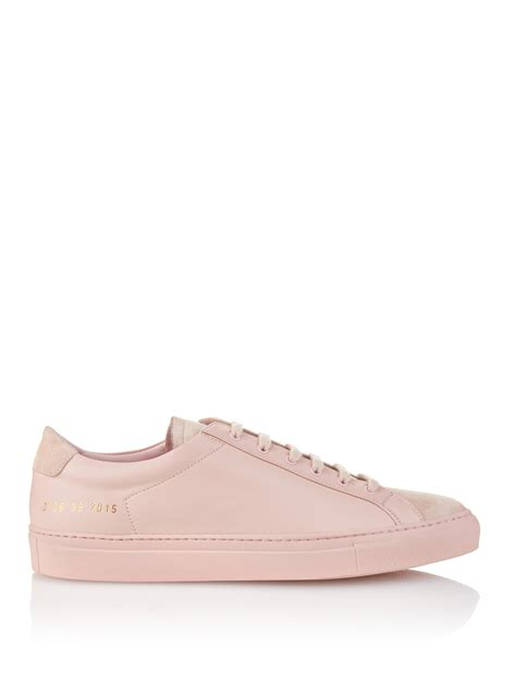 by common projects sneakers common projects original achilles low in pink save 13