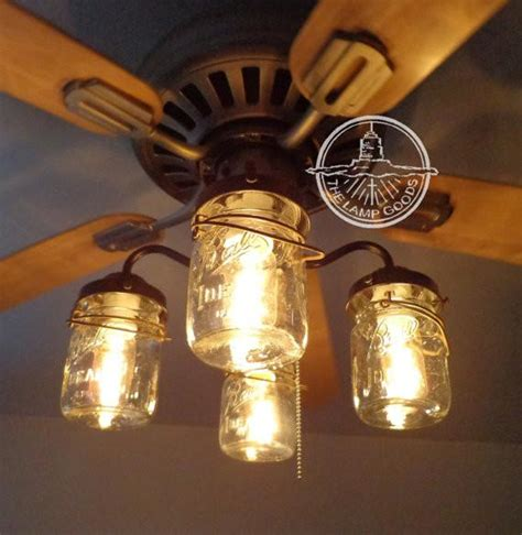 ceiling fan with jar lights mason jar ceiling fan light kit with vintage pints the