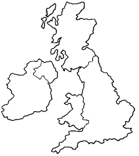 template of uk map a blank map of uk new