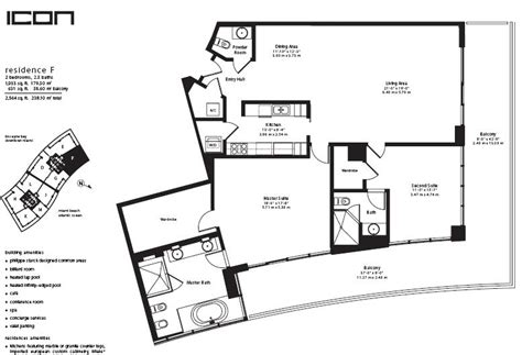 icon condo floor plan icon miami invest realty