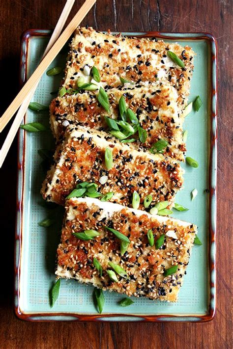 Detox Tofu Recipes by Sesame Crusted Tofu With Nuoc Cham Vegetarian Vegan Recipes