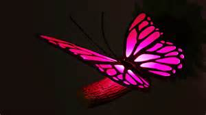Pink butterfly 3d deco light