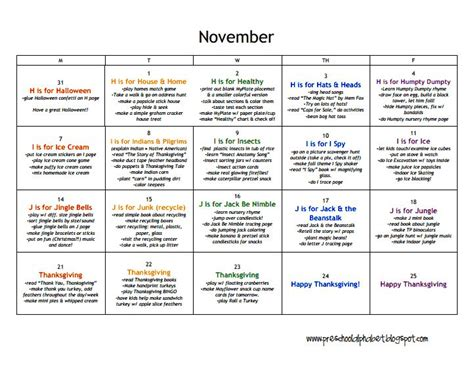 homeschool lesson plan sle toddler thanksgiving lesson plans 100 images