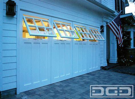 garage door conversion Exterior with architectural