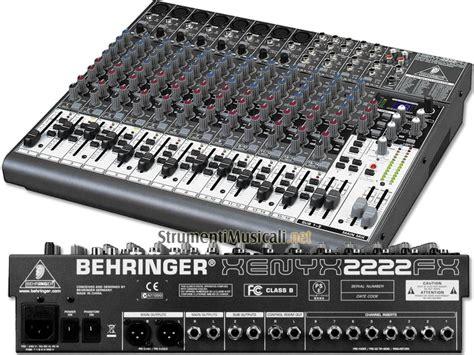 Info Mixer Audio behringer xenyx 2222fx mixer passivo interfaccia audio