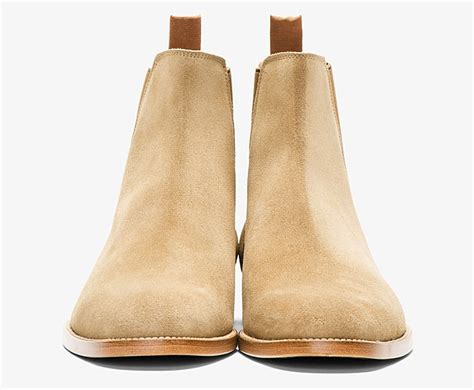 St Boots disick shows laurent suede chelsea boots