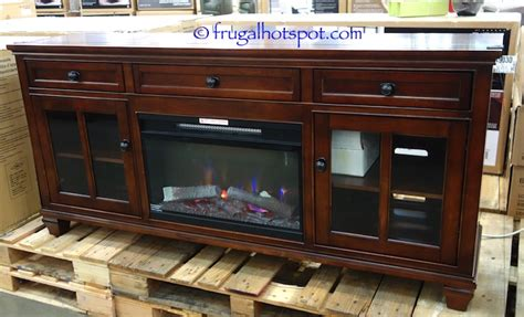 costco universal broadmoore media console with fireplace