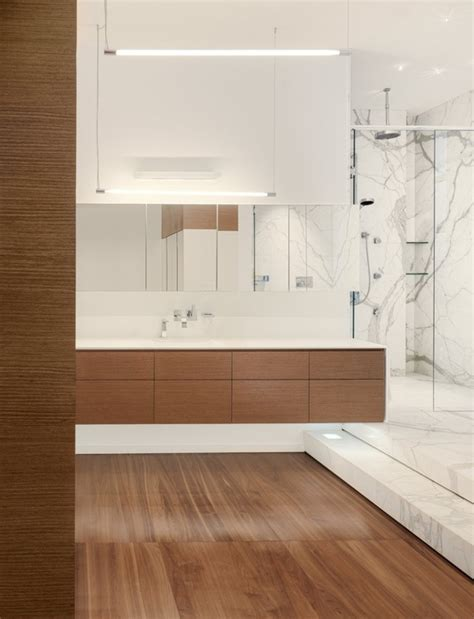 Gestaltung Badezimmer Moderne Badezimmer Gestaltung Mit Holz Und Marmor Wei 223