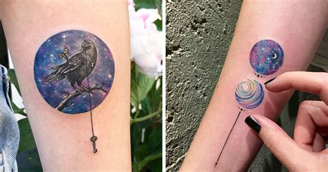 miniature circle tattoos by turkish artist eva krbdk