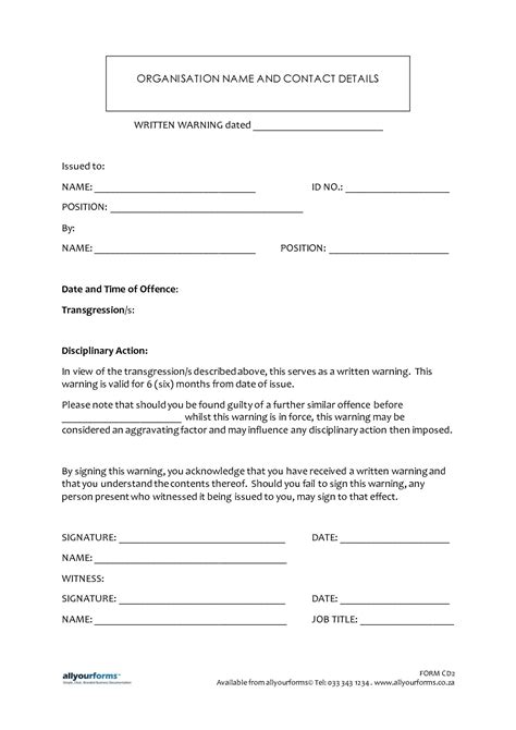 sample written warning letter employee letters