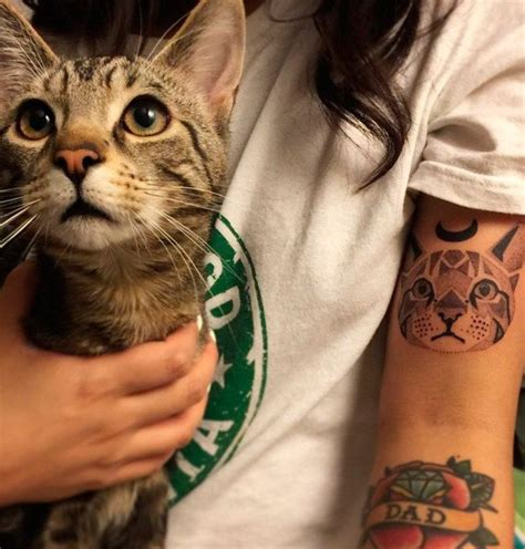 geometric tattoo tatuagem de gato tattooviral com