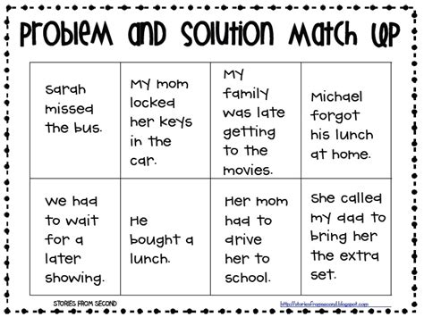 problem and solution reading worksheets 17 best images about problem and solution on pinterest