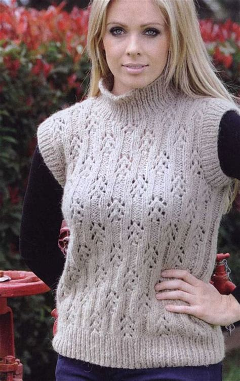 knitting pattern lace jumper sleeveless lace sweater knit knitting bee