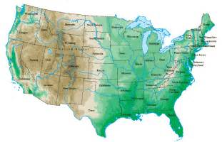 united states map topographical map
