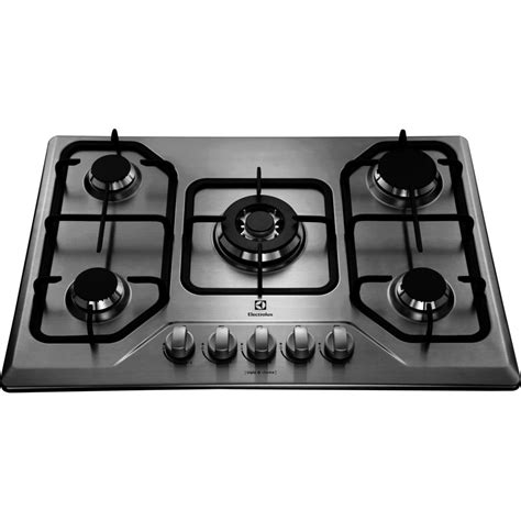 Cooktop Electrolux Cooktop Electrolux 5 Bocas Tripla Chama Inox Gt75x