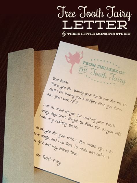 free printable tooth letter template 6 tooth traditions to check out creative