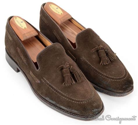 mens suede loafers with tassels charles tyrwhitt brown solid suede leather tassel loafer