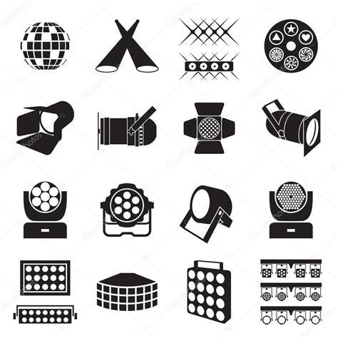 icone illuminazione icone di illuminazione palco icone di apparecchiature