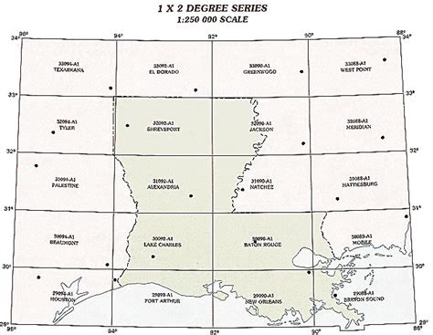 louisiana map index louisiana topographic index maps la state usgs topo