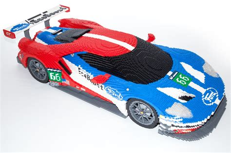 lego ford lego ford gt on display at le mans