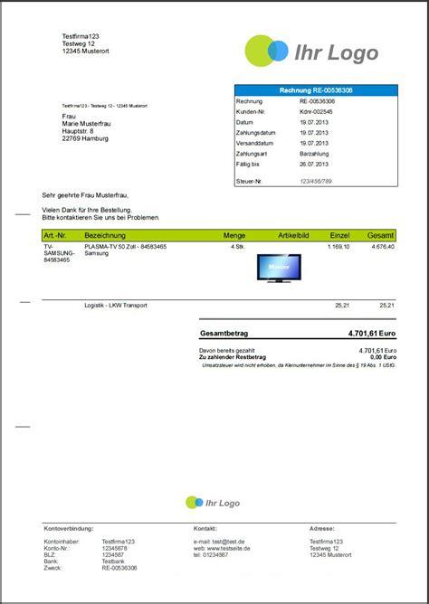 Rechnung Kleinunternehmer Software rechnung kleinunternehmer ohne steuernummer 28 images rechnungen de pflichtangaben auf