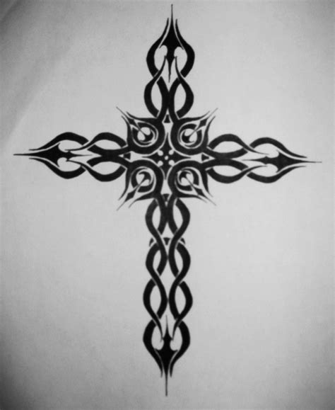 cross tattoo stencil janina gavankar cross tattoos designs