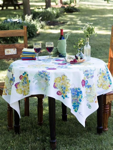 Kitchen Table Cloths Wine Country Tablecloth Linens Kitchen Tablecloths