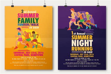 flyer poster templates summer run flyer poster template on behance