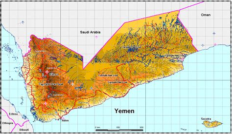 yemen map yemen political map