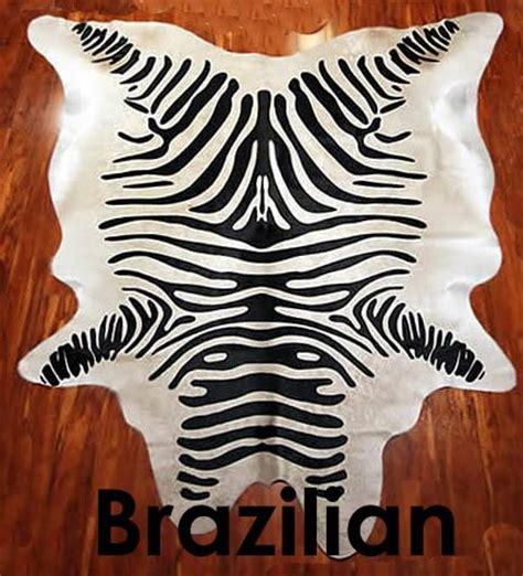 Black Friday Cowhide Rug Black Friday Original Black Striped Stenciled Zebra