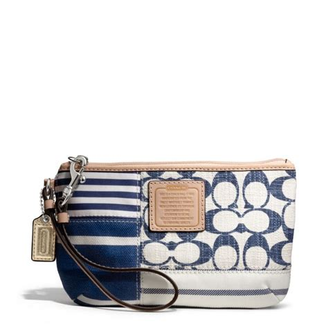 Coach Patchwork Wristlet - snap n zip fashion accessories coach patchwork