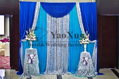 blue and silver curtains aliexpress com buy 3m 3m turquoise color backdrop