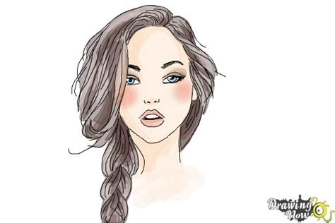 pretty girl face drawing how to draw a pretty girl drawingnow