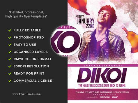 dj flyers templates guest dj flyer template 2 flyerheroes