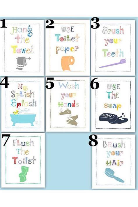 kids bathroom rules bathroom rules for kids art prints choose four 5x7
