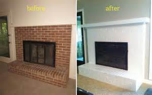 painting a brick fireplace white that s a possibility