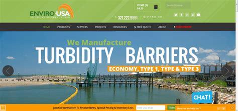 cortinas de turbidez para el nuevo lanzamiento sitio web enviro estados unidos