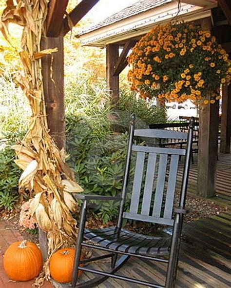 fall decorated porch happy autumn pinterest
