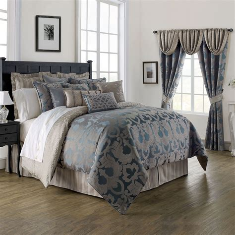 dark blue coverlet chateau lake dark blue comforter bedding by waterford linens